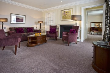 Seating area of Suite at Sir Christopher Wren Hotel